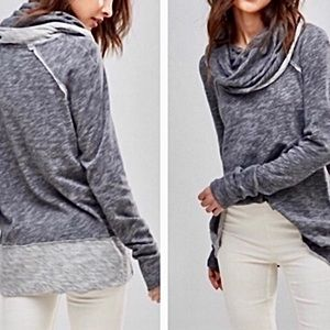 Free People Beach Cowl Neck Gray Top. M/L